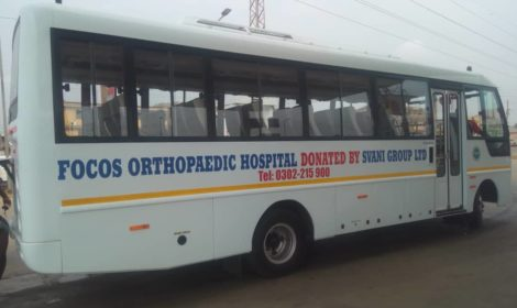 Svani Group donates a 33 seater Eicher air-condition bus to Focos Orthopedic hospital