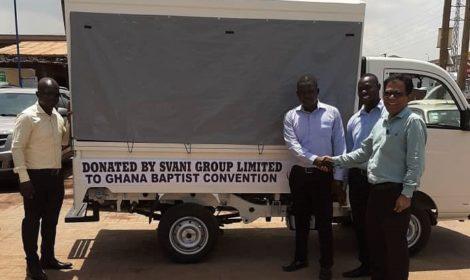 SVANI GROUP LIMITED DONATES A MAHINDRA SUPRO MAXI TRUCK TO THE GHANA BAPTIST CONVENTION